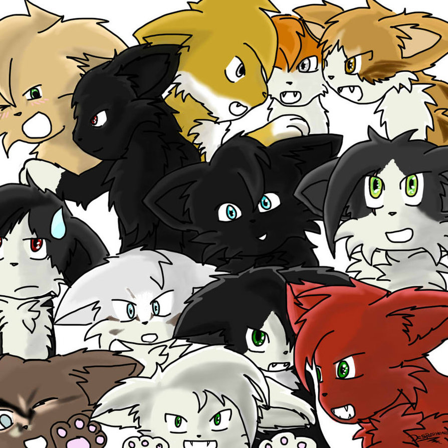 Warriors A Vision Of Shadows Free Download: Warrior_cats___group_drawing___by_digidespairheart-d49ey7x